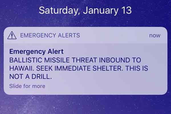Emergency Alert for Hawaii